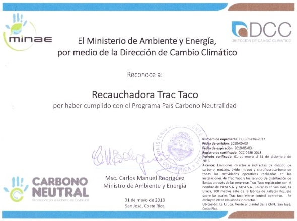 Certificado C-Neutral